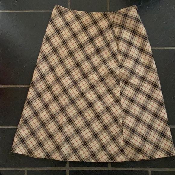 Tan plaid long skirt